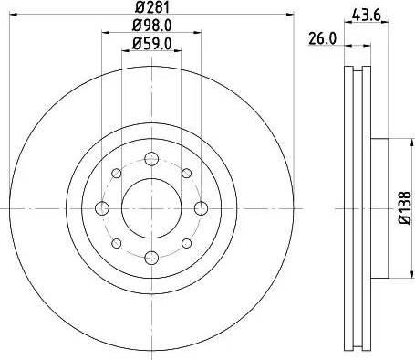 Mintex MDC1592 - Bremžu diski interparts.lv