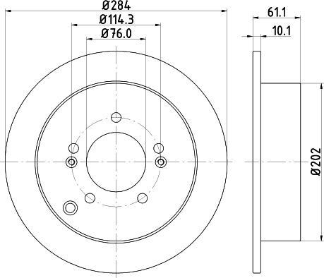 Mintex MDC1545C - Bremžu diski interparts.lv
