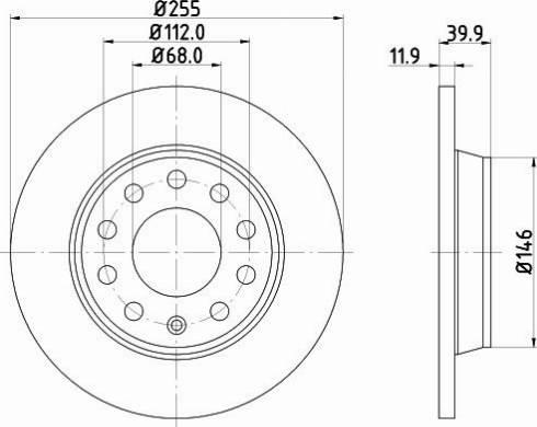 Mintex MDC1541C - Bremžu diski interparts.lv