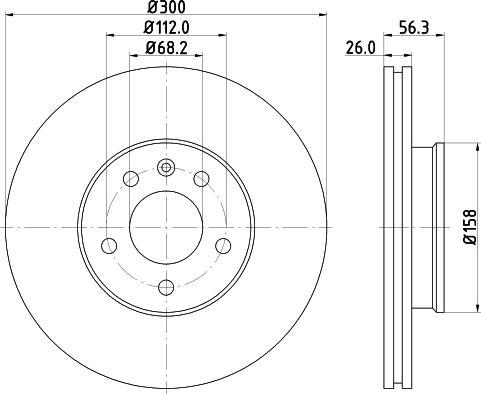 Mintex MDC1542C - Bremžu diski interparts.lv