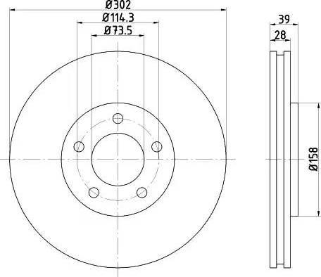 Mintex MDC1554 - Bremžu diski interparts.lv