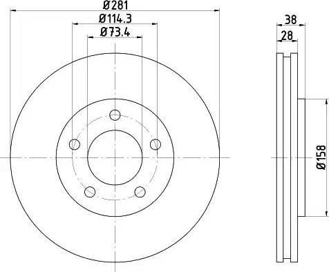 Mintex MDC1555 - Bremžu diski interparts.lv