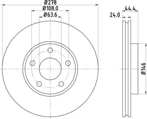 Mintex MDC1556C - Bremžu diski interparts.lv