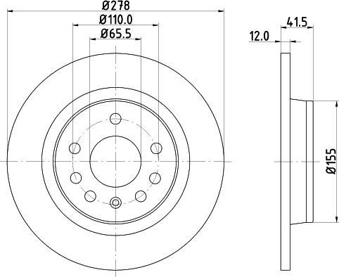 Mintex MDC1560C - Bremžu diski interparts.lv