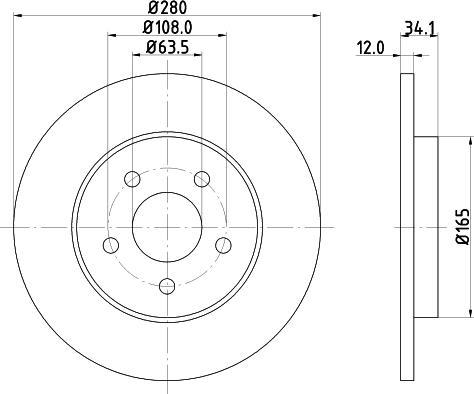 Mintex MDC1504C - Bremžu diski interparts.lv