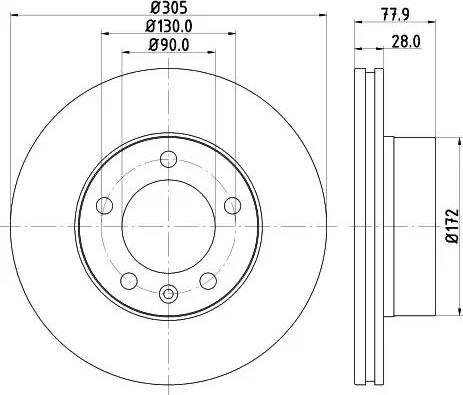Mintex MDC1505 - Bremžu diski interparts.lv