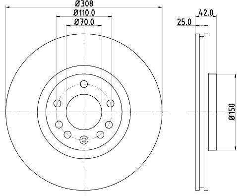 Mintex MDC1500C - Bremžu diski interparts.lv