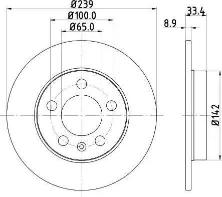 Mintex MDC1515 - Bremžu diski interparts.lv