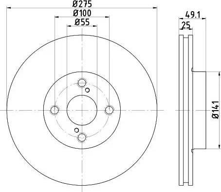 Mintex MDC1588 - Bremžu diski interparts.lv