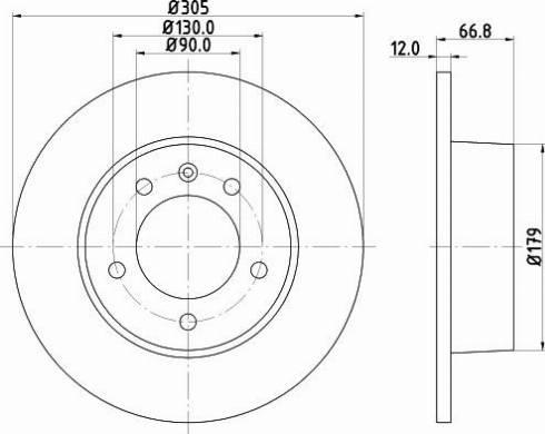 Mintex MDC1539C - Bremžu diski interparts.lv