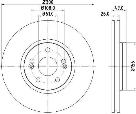 Mintex MDC1535 - Bremžu diski interparts.lv