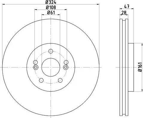 Mintex MDC1536 - Bremžu diski interparts.lv