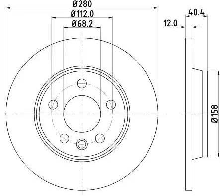 Mintex MDC1525 - Bremžu diski interparts.lv