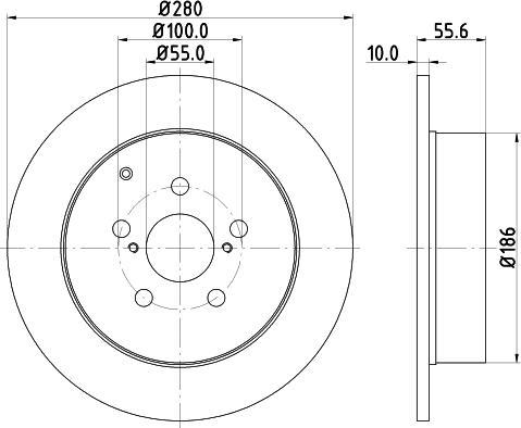 Mintex MDC1696C - Bremžu diski interparts.lv