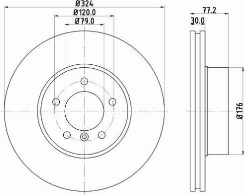 Mintex MDC1659C - Bremžu diski interparts.lv