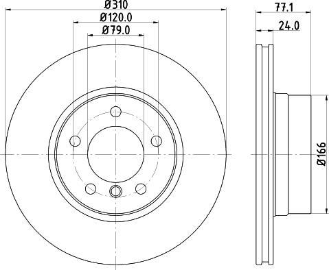 Mintex MDC1658C - Bremžu diski interparts.lv