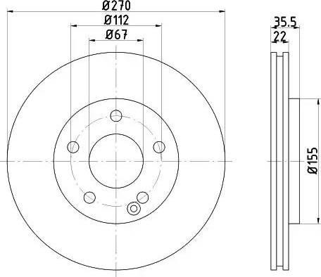 Mintex MDC1653 - Bremžu diski interparts.lv