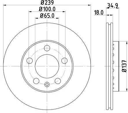 Mintex MDC1652 - Bremžu diski interparts.lv