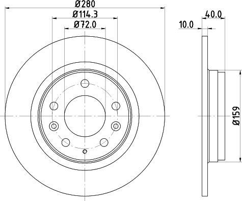 Mintex MDC1665C - Bremžu diski interparts.lv