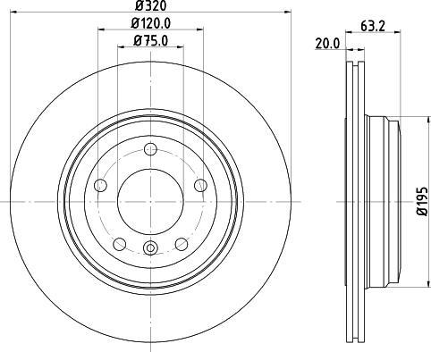 Mintex MDC1660C - Bremžu diski interparts.lv