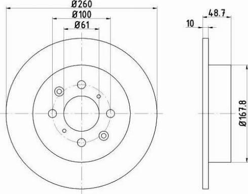Mintex MDC1601 - Bremžu diski interparts.lv