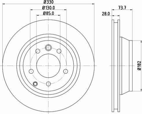 Mintex MDC1612C - Bremžu diski interparts.lv