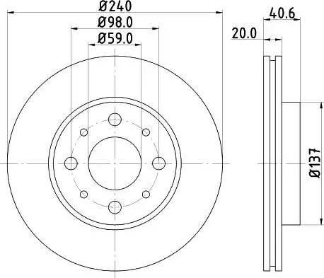 Mintex MDC1689 - Bremžu diski interparts.lv