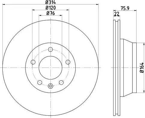 Mintex MDC1680 - Bremžu diski interparts.lv