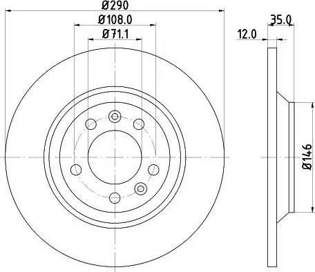 Mintex MDC1688 - Bremžu diski interparts.lv