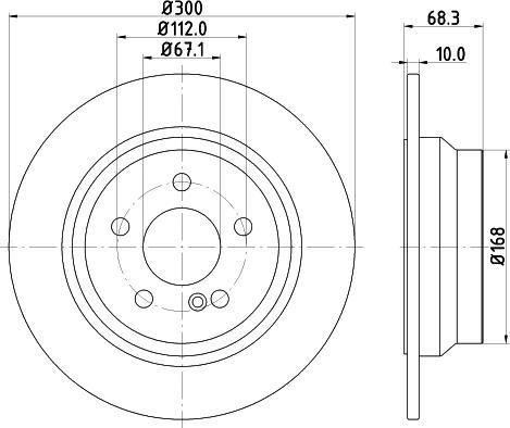 Mintex MDC1633C - Bremžu diski interparts.lv