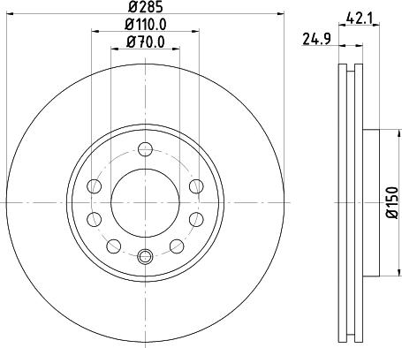 Mintex MDC1632C - Bremžu diski interparts.lv