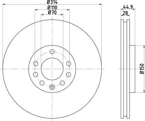 Mintex MDC1674 - Bremžu diski interparts.lv