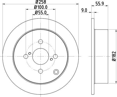 Mintex MDC1678C - Bremžu diski interparts.lv