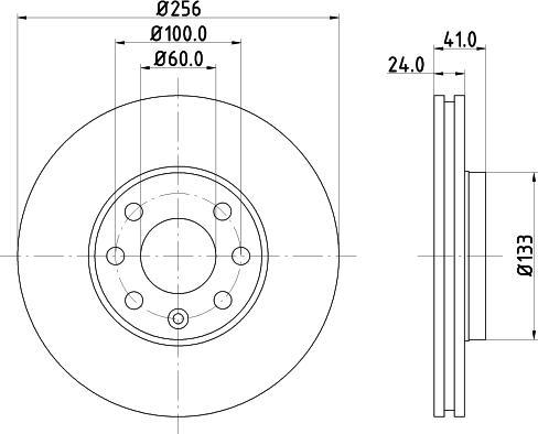 Mintex MDC1049C - Bremžu diski interparts.lv