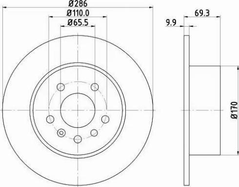 Mintex MDC1045 - Bremžu diski interparts.lv