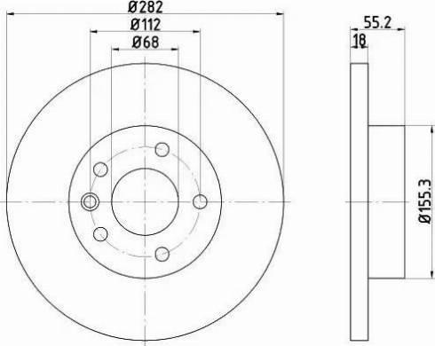 Mintex MDC1046 - Bremžu diski interparts.lv