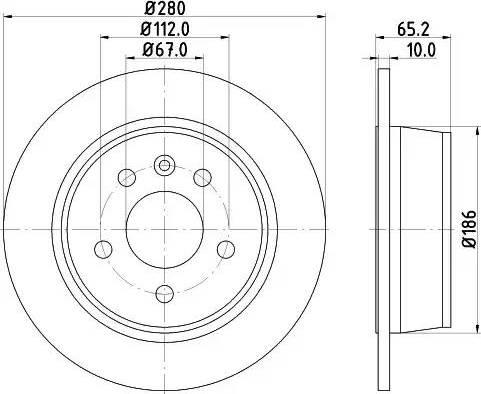 Mintex MDC1040 - Bremžu diski interparts.lv