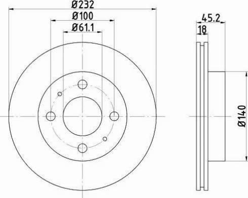 Mintex MDC1041 - Bremžu diski interparts.lv