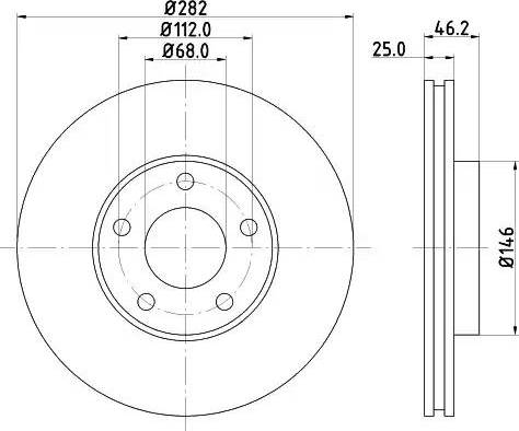 Mintex MDC1048 - Bremžu diski interparts.lv