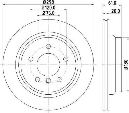 Mintex MDC1054 - Bremžu diski interparts.lv