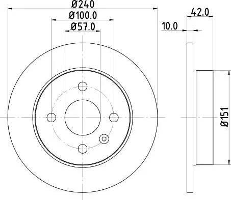Mintex MDC1051 - Bremžu diski interparts.lv