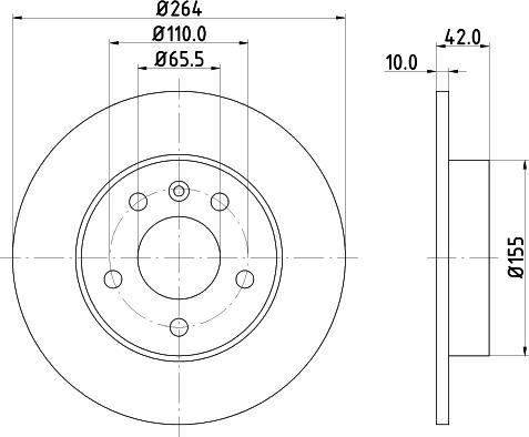 Mintex MDC1052C - Bremžu diski interparts.lv