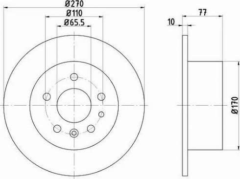 Mintex MDC1069 - Bremžu diski interparts.lv