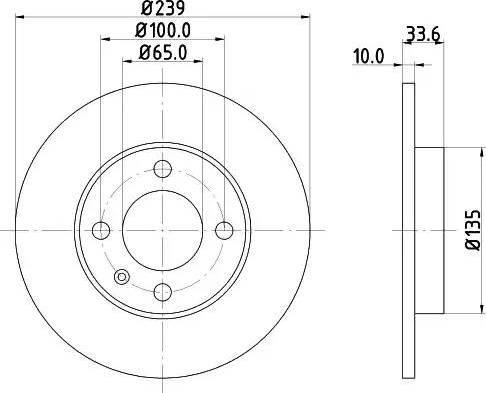 Mintex MDC1064 - Bremžu diski interparts.lv