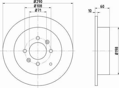 Mintex MDC1063 - Bremžu diski interparts.lv