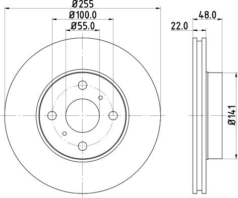 Mintex MDC1016C - Bremžu diski interparts.lv