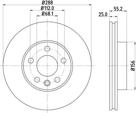 Mintex MDC1017 - Bremžu diski interparts.lv