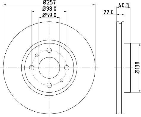 Mintex MDC1084C - Bremžu diski interparts.lv