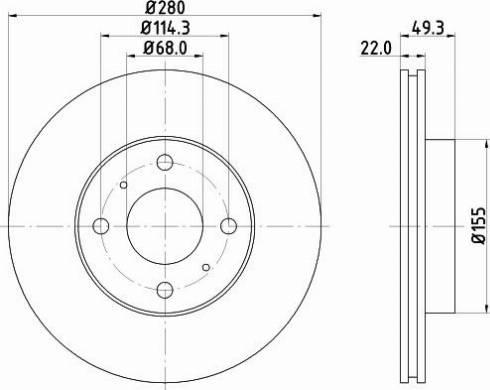 Mintex MDC1080C - Bremžu diski interparts.lv
