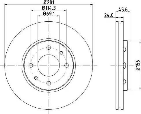 Mintex MDC1081 - Bremžu diski interparts.lv